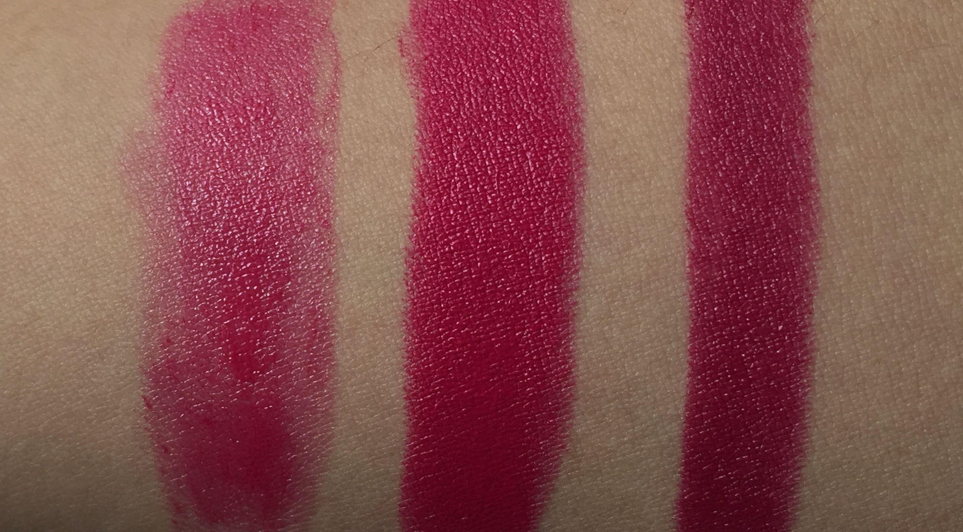 Bobbi Brown Nourishing Lip Color Bright Raspberry swatched ...